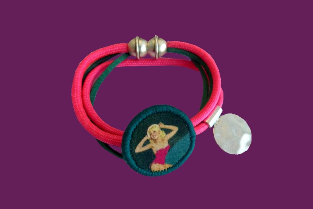 Bracelet Lolita rose et bleu canard2