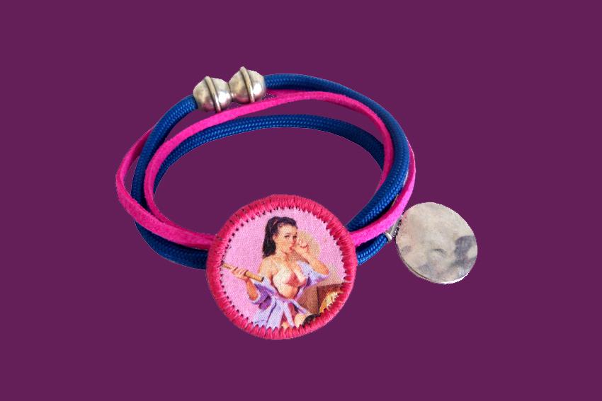 Bracelet Lolita rose et bleu2