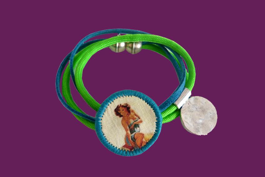 Bracelet Lolita vert et bleu2